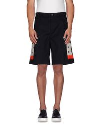 Givenchy - Black Bermuda Shorts for Men - Lyst