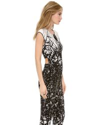 Yigal Azrouël - Black Printed Jumpsuit - Lyst