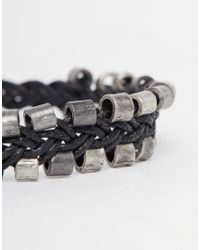 ASOS | Black Metal Bracelet Pack for Men | Lyst