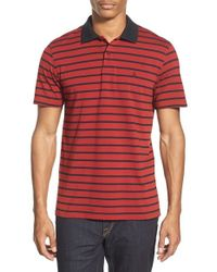 Volcom | Blue 'wowzer Stripe' Slim Fit Jersey Polo for Men | Lyst