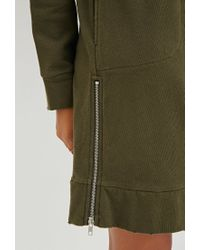 Forever 21 | Green Hooded Side-zip Dress | Lyst