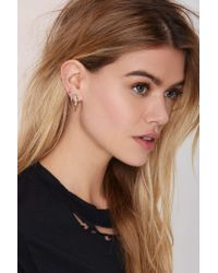 Nasty Gal | Metallic Bolted Crystal Ear Cuff | Lyst