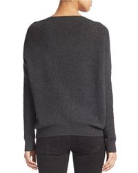 Lord & Taylor - Gray Cashmere Sweater - Lyst