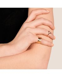 Dutch Basics | Metallic Ruit Adjustable Knuckle Ring Small Rose Gold | Lyst
