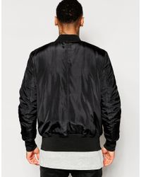 ASOS   Bomber Jacket With Ma1 Pocket In Black for Men   Lyst
