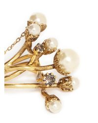 Erickson Beamon | White 'stratosphere' Faux Pearl Three Ring Set | Lyst
