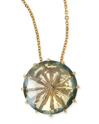KALAN by Suzanne Kalan | Metallic 12mm Round Green Envy Topaz Pendant Necklace | Lyst