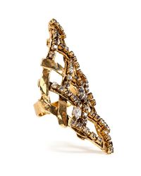 Erickson Beamon | Metallic Heart Of Gold Ring | Lyst