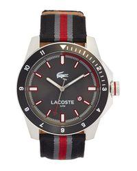 Lacoste - Gray 'durban' Nylon Strap Watch for Men - Lyst