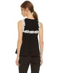 Giambattista Valli | Black Sleeveless Top | Lyst