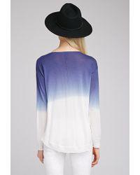 Forever 21 - Blue Ombré Side-slit Sweater - Lyst
