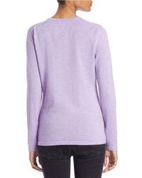Lord & Taylor | Pink Plus Merino Wool Basic V-neck Sweater | Lyst