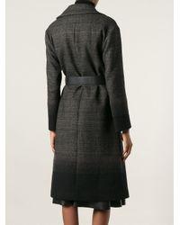 Ferragamo - Black Double Breasted Coat - Lyst