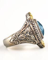 Konstantino | Metallic Pave London Blue Topaz Ring | Lyst