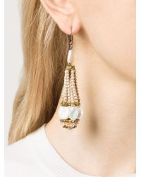 Ziio - Metallic Beaded Drop Earrings - Lyst