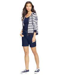 Lauren by Ralph Lauren | Blue Petite Drawcord Chino Shorts | Lyst