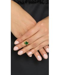 Bijules | Green Phalange Brilliant Cut Cocktail Ring | Lyst