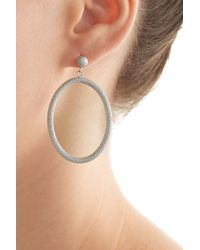 Carolina Bucci - Metallic 18k White Gold Gitane Sparkly Oval Earrings - Silver - Lyst