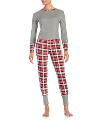 Splendid | Red Cotton Blend Sleep Shirt And Pants Set | Lyst