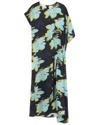 Cedric Charlier   Multicolor Floral -print Silk Dress   Lyst