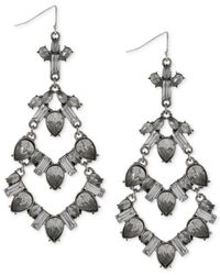 BCBGeneration | Metallic Rhodium-tone Stone Drama Chandelier Earrings | Lyst