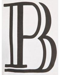 Balmain - White Vinyl Logo Printed Cotton T-shirt for Men - Lyst