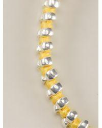 Paul Smith - Yellow Doubled Beaded Bracelet for Men - Lyst