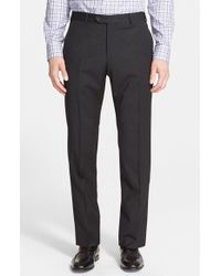 Armani | Gray Stretch Wool Trousers for Men | Lyst