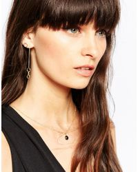 SELECTED - Metallic Tria Circle Through & Through Stud Earrings - Lyst