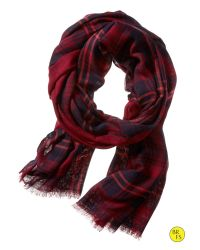 Banana Republic - Factory Red Plaid Scarf for Men - Lyst