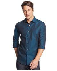 Alfani - Blue Big And Tall Verve Iridescent Shirt for Men - Lyst