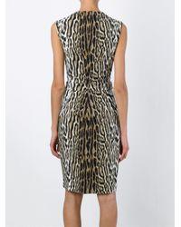Roberto Cavalli - Black Leopard Print Fitted Dress - Lyst