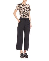 Marc By Marc Jacobs - Black Gabardine Wide-leg Pants - Lyst