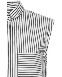 Band of Outsiders - Black Stripe Sleeveless Button Down Top - Lyst