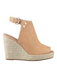 Nine West - Natural Followme Platform Wedge Sandals - Lyst