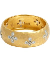 Cathy Waterman | Metallic Flower Band | Lyst