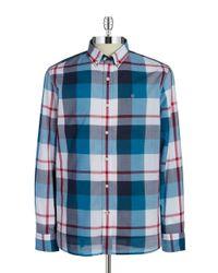 Victorinox | Blue Plaid Sportshirt for Men | Lyst
