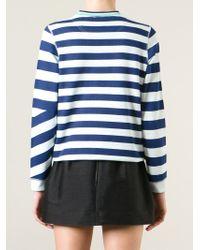 KENZO | Blue Striped Logo Sweatshirt for Men | Lyst