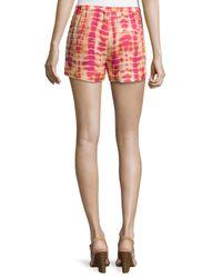 Haute Hippie - Orange Tie-dye Summer Shorts - Lyst