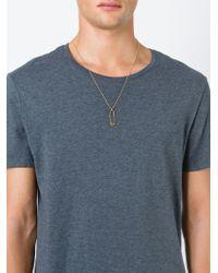 True Rocks - Metallic 'safety Pin' Necklace - Lyst