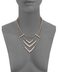Alexis Bittar | Metallic Miss Havisham Mosaic Crystal Draped Snake Chain Bib Necklace | Lyst