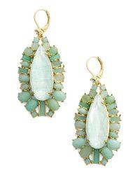 kate spade new york | Green 'seastone Sparkle' Statement Earrings - Mint Multi | Lyst