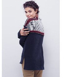 Free People | Black Snow Bunny Pullover | Lyst