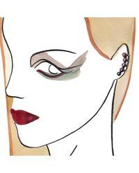 Maria Stern - Metallic Five Pearl Black Ear Cuff - Lyst