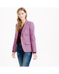 J.Crew | Purple Collection Rhodes Blazer In Heather Floral Wool | Lyst