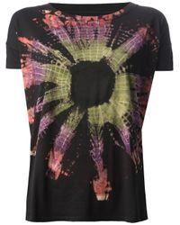 Zadig & Voltaire - Black Cubo Tie Dye Tshirt - Lyst