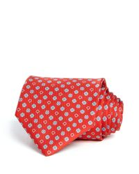 Ferragamo | Red Gancini And Floral Classic Tie for Men | Lyst