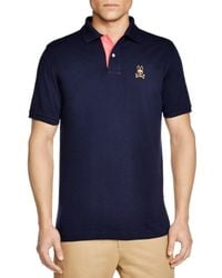 Psycho Bunny | Blue St. Bart's Gold Bunny Polo - Regular Fit for Men | Lyst