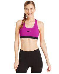 Nike | Purple Pro Padded Sports Bra | Lyst
