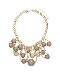 TOPSHOP | Purple Statement Caged Pearl Necklace | Lyst